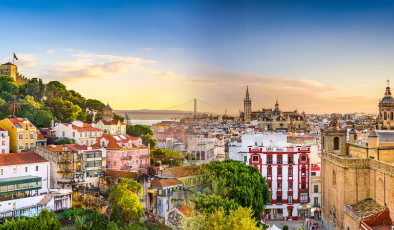 How to get from Seville to Lisbon
