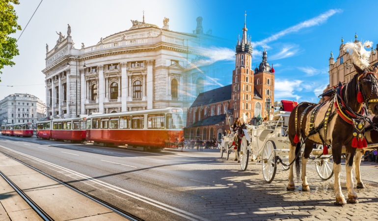 How to get from Vienna to Krakow